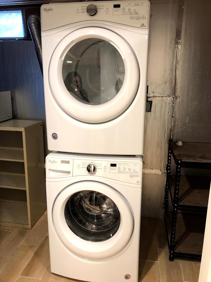 アメリカの洗濯機ユニット