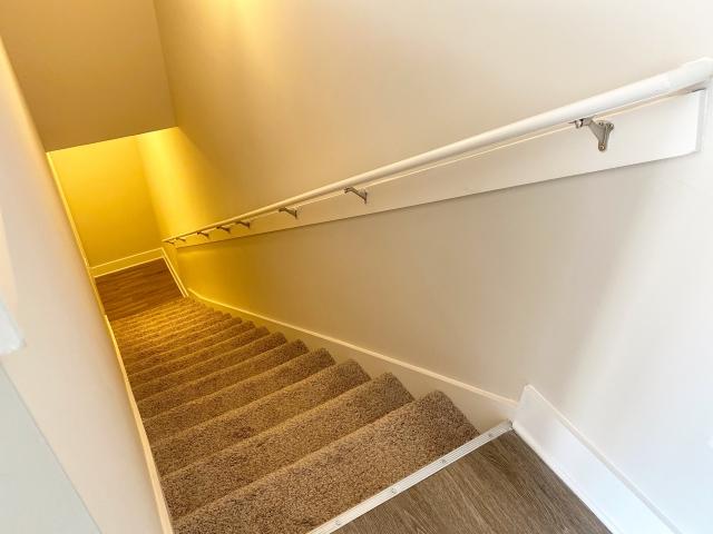 アメリカの住宅の階段