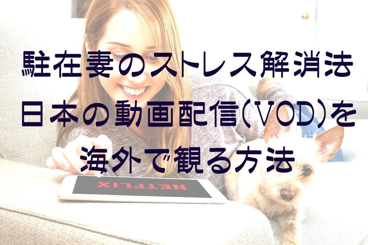 日本のVODを海外で観る方法