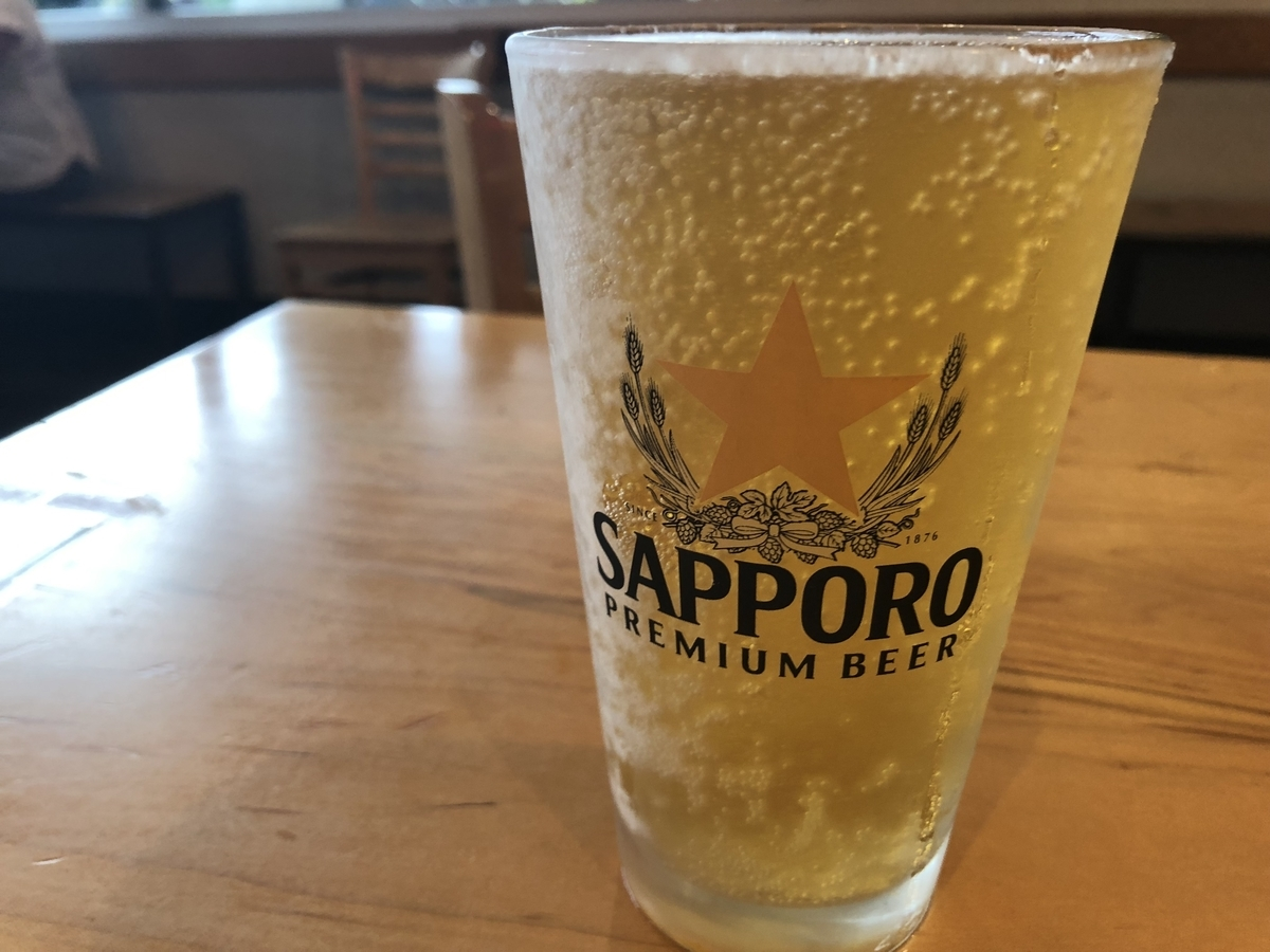 TOTTO RAMENの生ビール