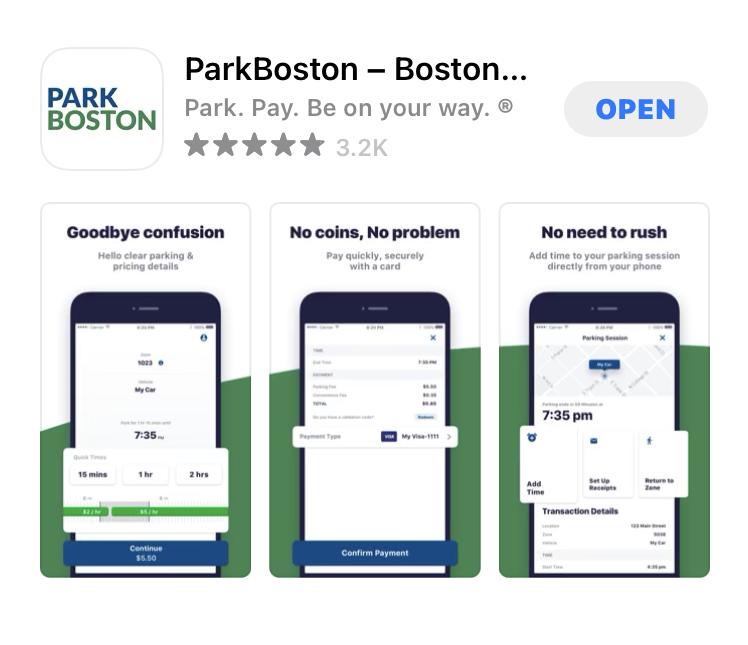 Park Bostonのアプリ