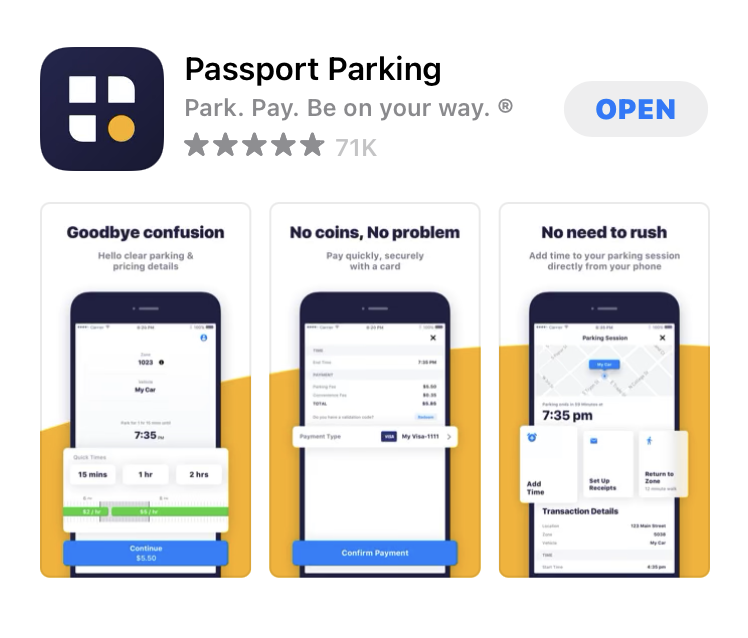 Passportの駐車料金アプリ