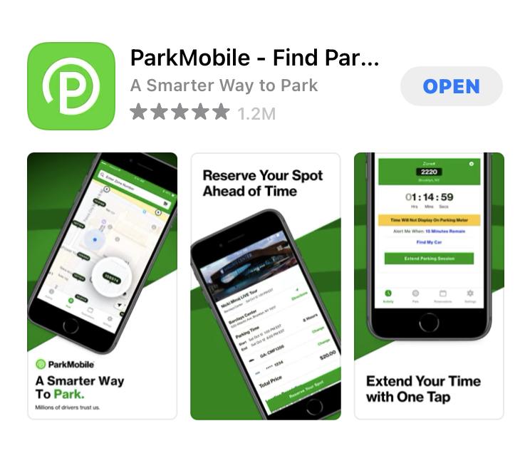 Parkmobileのアプリ