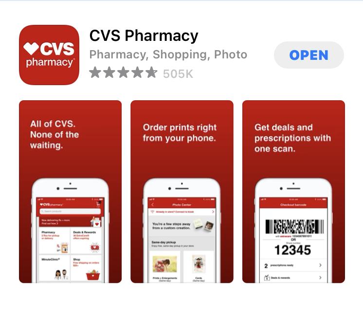CVSのアプリ