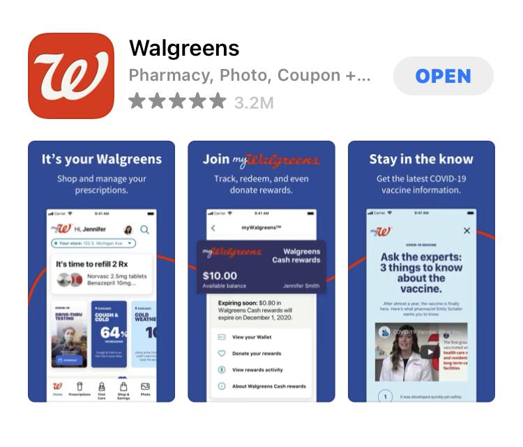 Walgreensのアプリ