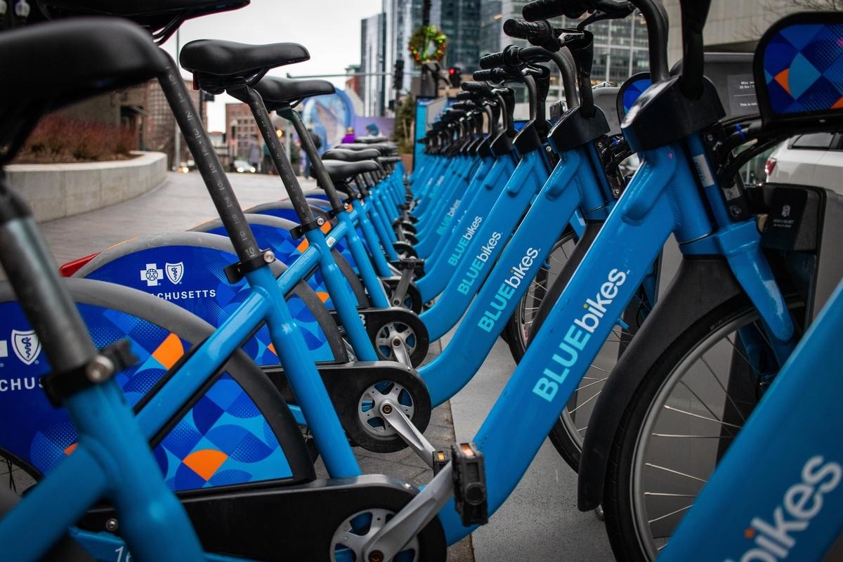 ブルーバイクBluebikeのシェアステーション