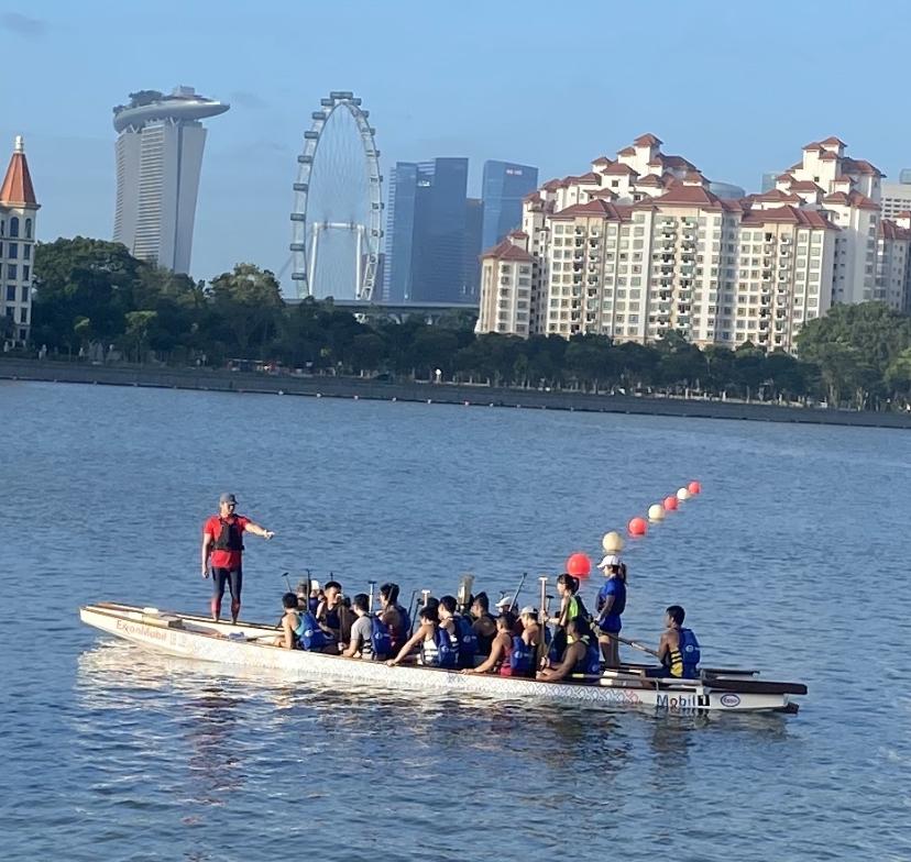 シンガポールのカランで見たドラゴンボート