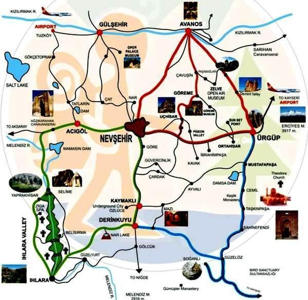 cappadocia_ tourmap