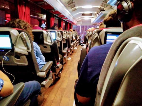 トルコ 長距離バス 車内