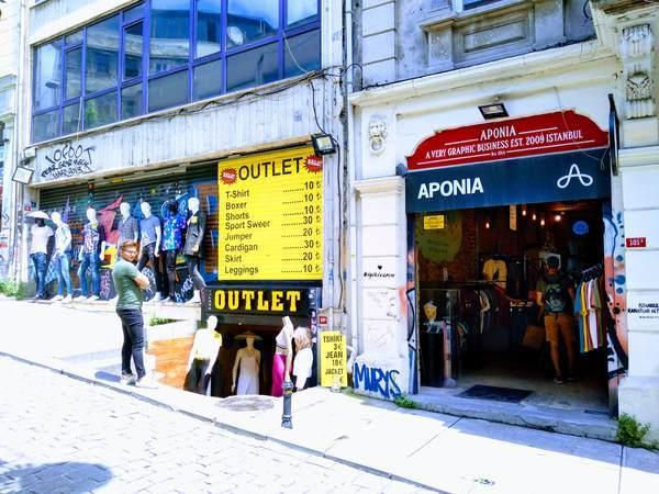 イスタンブール 新市街 イスティクラル通り ショッピング