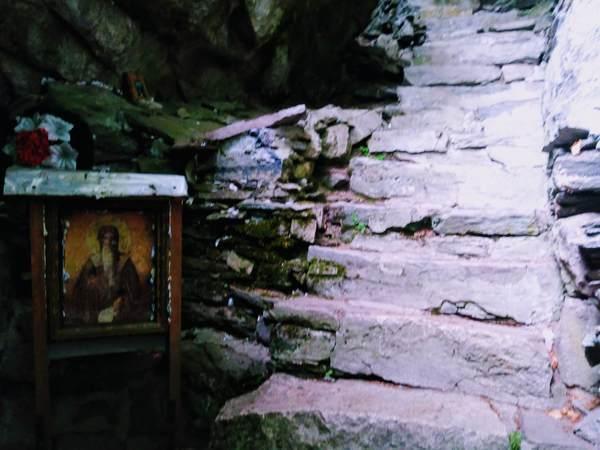 リルスキー洞窟の中