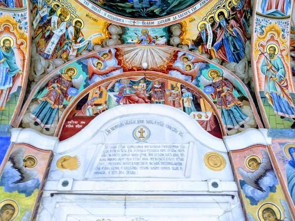 リラ修道院にある聖母教会の入り口