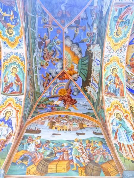 リラ修道院の聖母教会(天井画)
