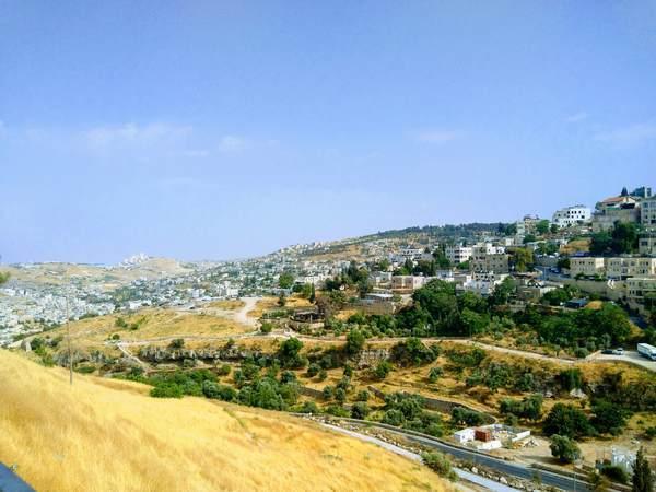 シオンの丘からの風景