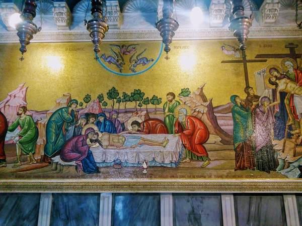 キリスト処刑後のモザイク壁画
