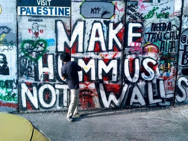 分離壁アート(壁ではなくフムスを作れ)