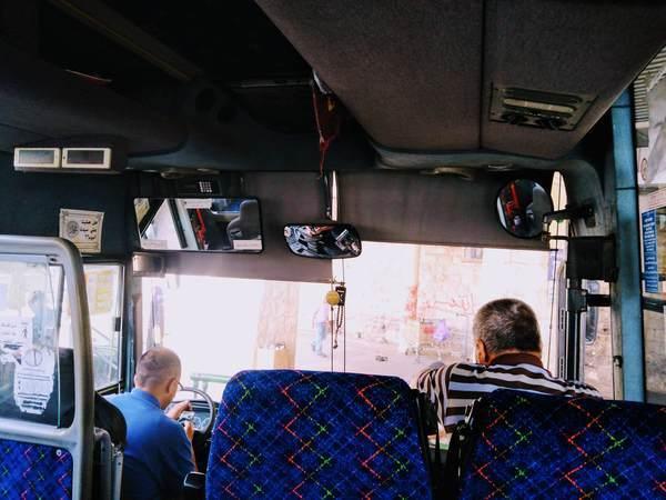 エルサレムの路線バス(車内)