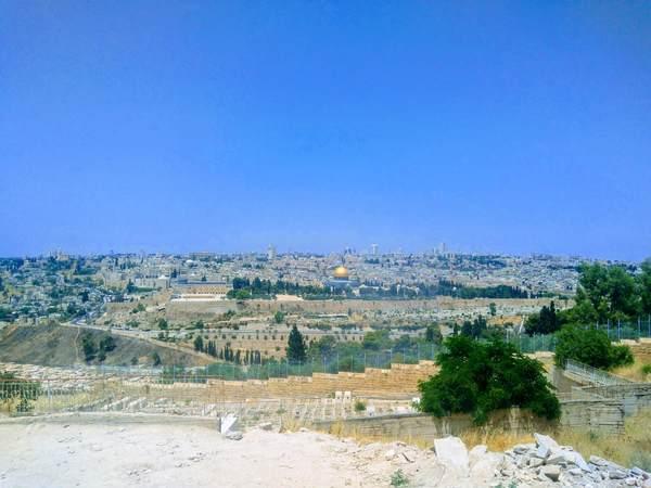オリーブ山から見た旧市街の景色