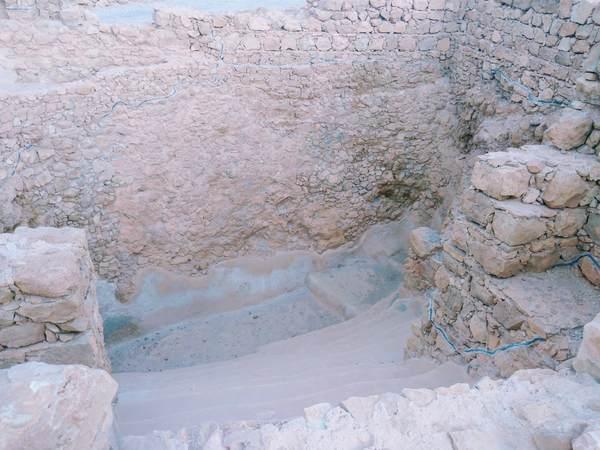 マサダ要塞にある大衆浴場(内観)