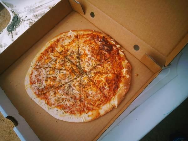 死海で購入したピザ