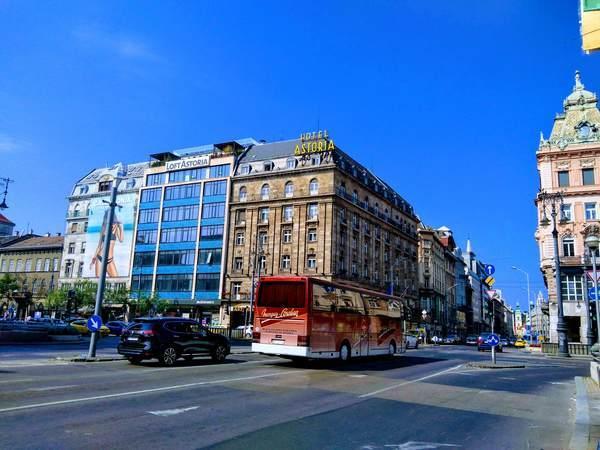 ブダペスト市内の大通り