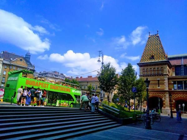 ブダペストの繁華街