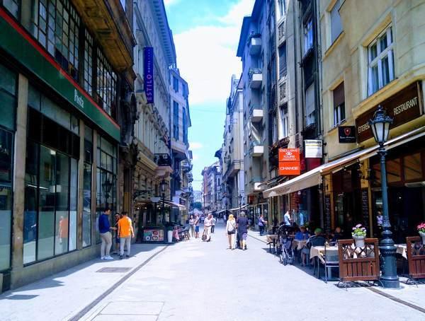 ブダペストの街並み