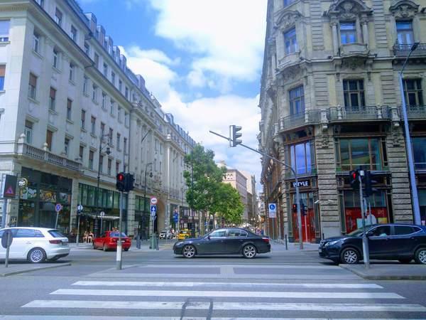 ブダペストの市内中心部