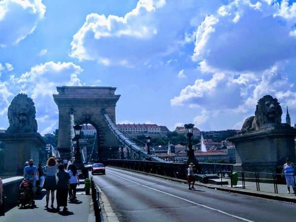 セーチェーニ鎖橋の近影