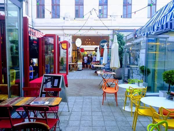 ブダペストのレストラン街