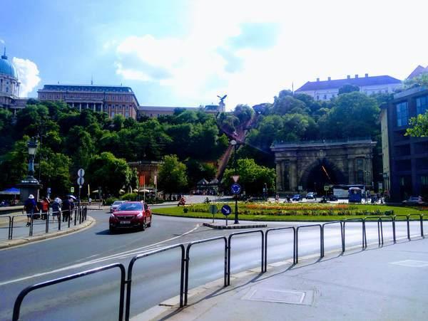 セーチューニ鎖橋から見た王宮の丘