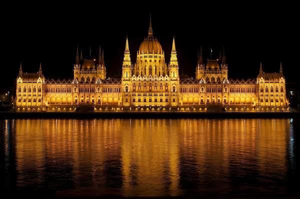 ブダペスト国会議事堂を正面から