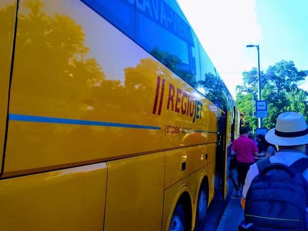 ブダペストからウィーン行きの高速バス