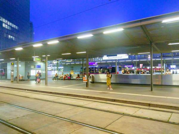 ウィーン中央駅の停留所