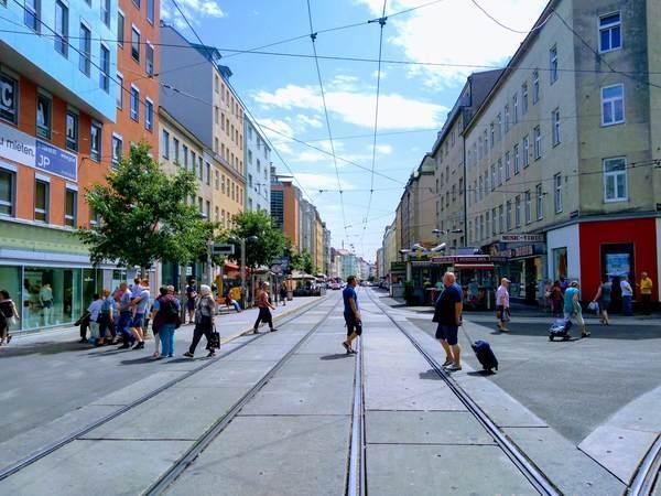 ウィーン郊外の街の様子