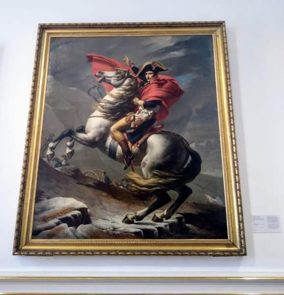絵画『サン・ベルナール峠を越えるボナパルト』