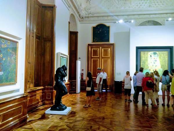 オーストリアギャラリーのクリムト展示フロア