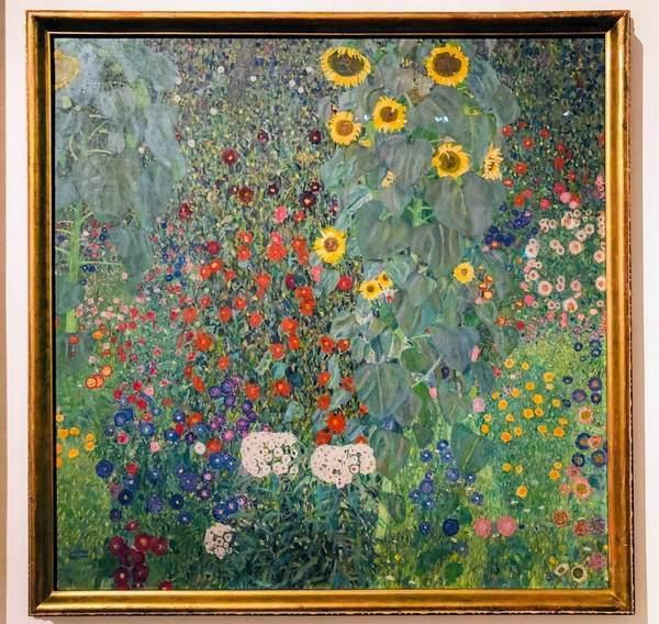 絵画『ヒマワリの咲く農家の庭』