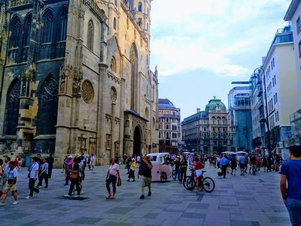 ウィーンの繁華街