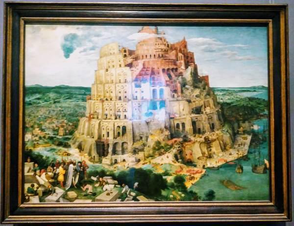 ピーテル・ブリューゲルの絵画「バベルの塔」