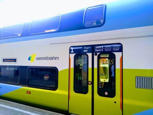 ウィーンからザルツブルク行きの電車