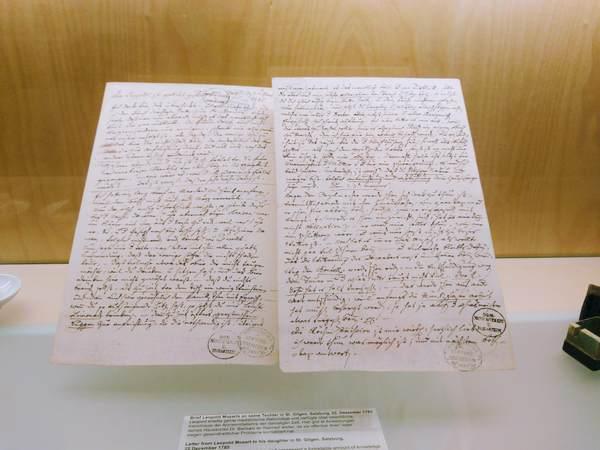 モーツァルトが書いた手紙