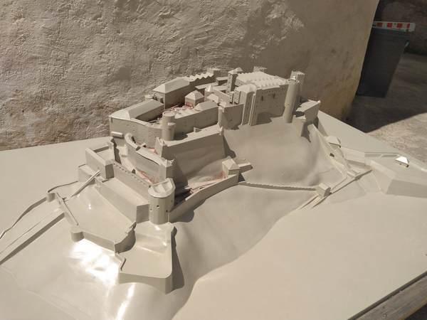 ホーエンザルツブルク城の模型