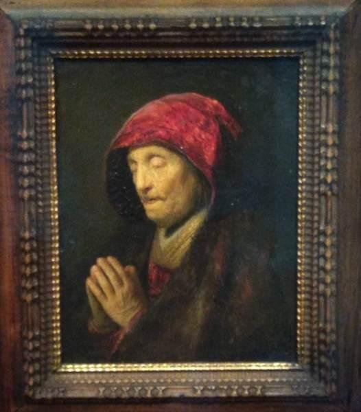 レンブラントの母の絵画
