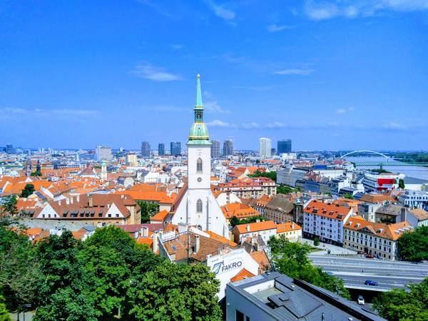 ブラチスラバ城から見た旧市街