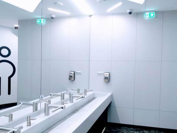 Euroveaのトイレ