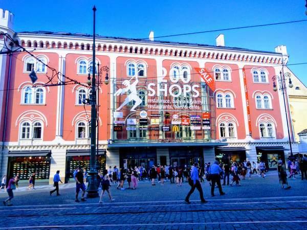 プラハのショッピングモール「PALLADIUM」