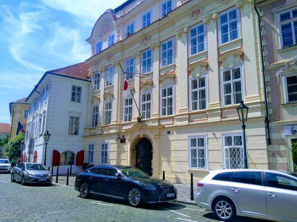 チェコの日本国大使館の外観