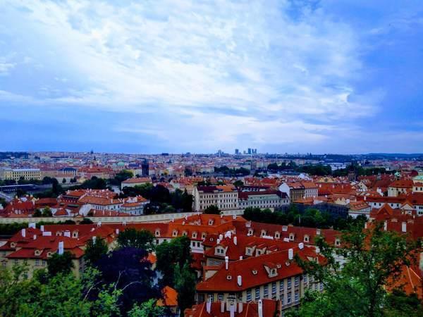 プラハ城から見たプラハ市街地の絶景