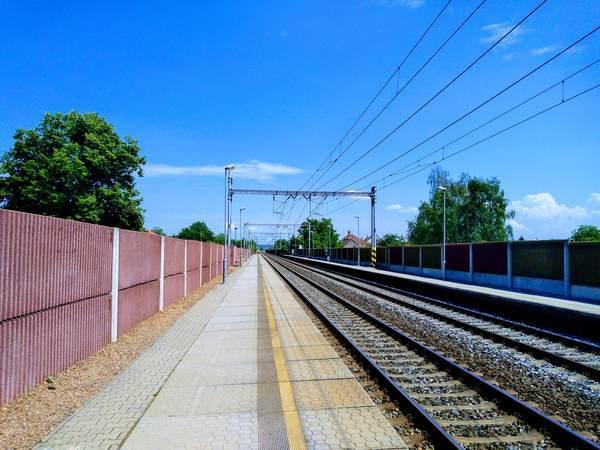 コリーン駅の乗り場
